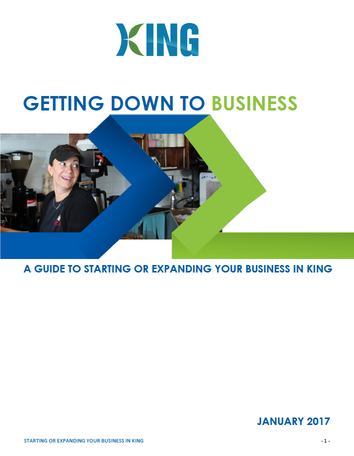 Guide to Starting or Expanding Your Business Cover page