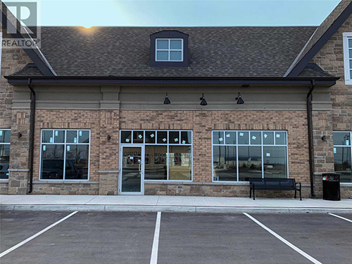 Exterior of retail space for sale