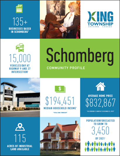Schomberg Community profile brochure cover page