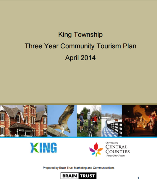Tourism plan cover page