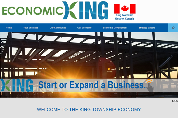 Front page of economicking.ca website
